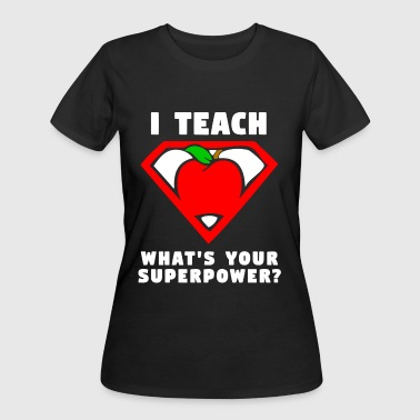 I Teach What s Your Superpower Shirt Superhero tea - Women's 50/50 T-Shirt