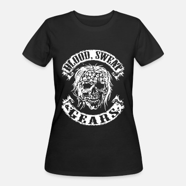 Skull Motorcycle Engine Biker Skull Motorcycle Stripper Funny Rocker Tatto - Women's 50/50 T-Shirt