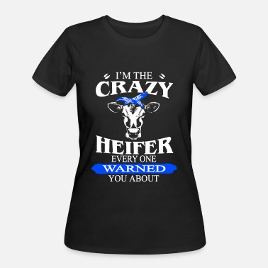 Mickey Mouse Hands Hip Hop i m the crazy heifer every one warnes you about co - Women's 50/50 T-Shirt