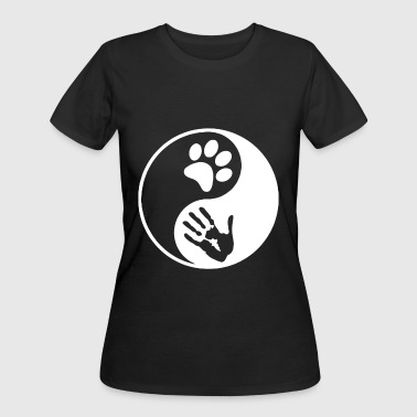 Yin Yang Dog Cat Animal Lover Peta Love Rescue Rig - Women's 50/50 T-Shirt