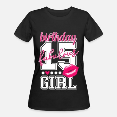 15th Birthday 15th birthday girl sweet pink princess kiss - Women's 50/50 T-Shirt