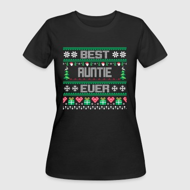 BEST AUNTIE EVER UGLY SWEATER - Women's 50/50 T-Shirt
