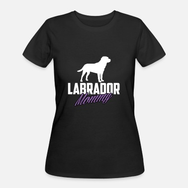 Cool Labrador Mom LABRADOR MOMMY COOL FUNNY LABRADOR OWNER SHIRT - Women's 50/50 T-Shirt