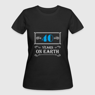 40 years on earth - Women's 50/50 T-Shirt