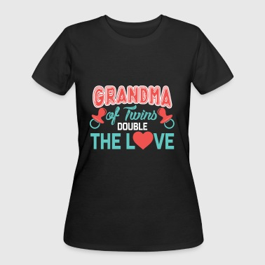 Double Twins Grandma Of Twins, Double The Love, Grandmother Of Twins, Twin Grandma - Women's 50/50 T-Shirt