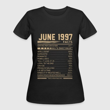 june 1997 facts birthday t shirts - Women's 50/50 T-Shirt