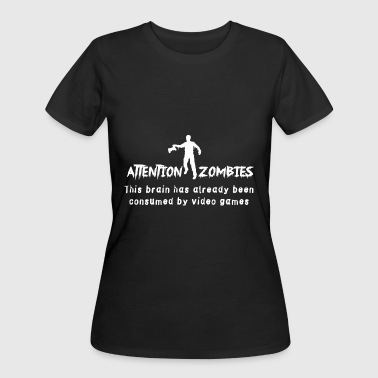 Xxx Tits Video game - Attention Zombies. Brain Consumed b - Women's 50/50 T-Shirt