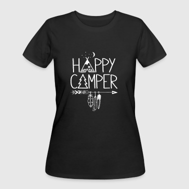 Happy Camper T Shirt - Women's 50/50 T-Shirt