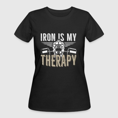 Gym iron is my therapy - Women's 50/50 T-Shirt