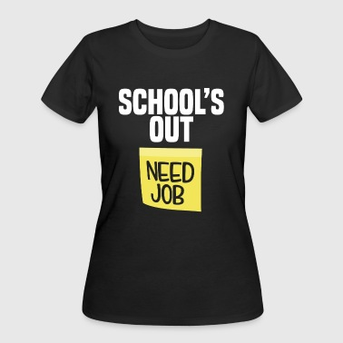 School Is Out Need Job Funny Last Day School Shirt Teacher - Women's 50/50 T-Shirt