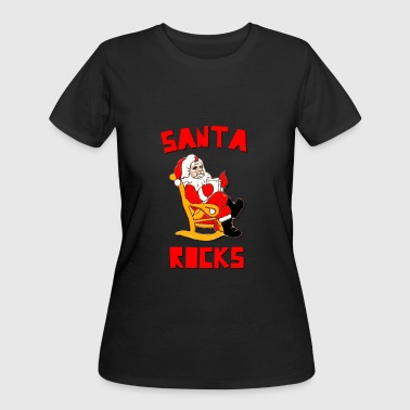 Rocking Santa Santa Rocks Funny Christmas - Women's 50/50 T-Shirt