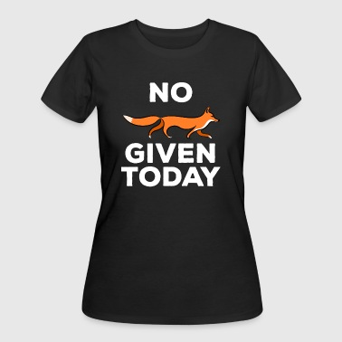 No Fox Given Funny Witty Fox Pun Joke T-Shirt - Women's 50/50 T-Shirt