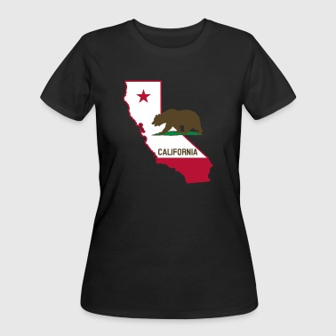 CALIFORNIA STATE WITH STATE BEAR - Women's 50/50 T-Shirt