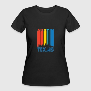 Retro Austin Skyline - Women's 50/50 T-Shirt