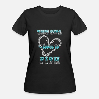 Awesome Fisherman Girls Fishing - This girl loves to fish awesome t - sh - Women's 50/50 T-Shirt