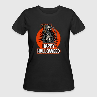 Happy Halloween Grim Reaper Happy HalloWEED Grim Reaper Smoking Pot Halloween - Women's 50/50 T-Shirt