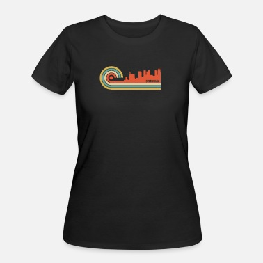 Birmingham Alabama Retro Style Birmingham Alabama Skyline - Women's 50/50 T-Shirt