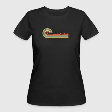 Retro Style Anchorage Alaska Skyline - Women's 50/50 T-Shirt