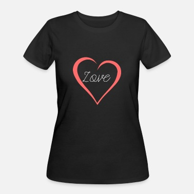 Heart Curve Love Lettering Curved Heart As A Gift - Women's 50/50 T-Shirt
