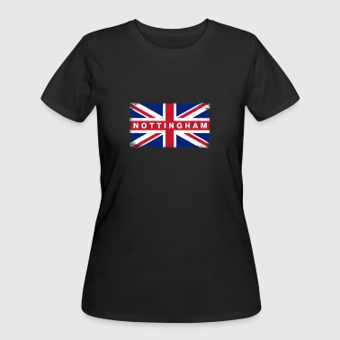 Nottingham Shirt Vintage United Kingdom Flag T-Shi - Women's 50/50 T-Shirt