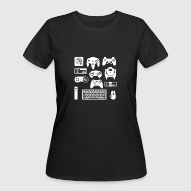 Button Masher Funny Game Controller - Women's 50/50 T-Shirt