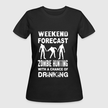 Nazi Zombie Zombie - Zombie hunting with a chance of drinkin - Women's 50/50 T-Shirt