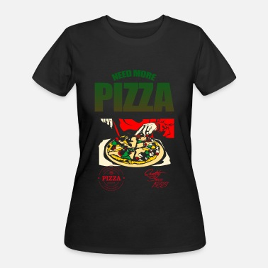 Eat More Pizza Need More Pizza Gradient Graphic Design - Women's 50/50 T-Shirt