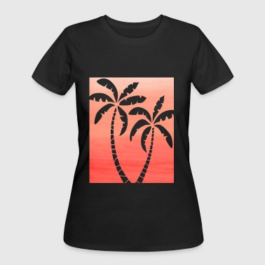 Palm Double Peach Ombre - Women's 50/50 T-Shirt