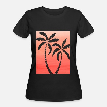 Ombre Palm Double Peach Ombre - Women's 50/50 T-Shirt