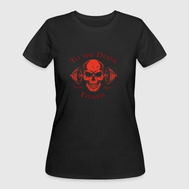 Fitness Fanatic To the Death Fitness Red - Women's 50/50 T-Shirt