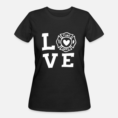 I Love Firefighter LOVE firefighter - Women's 50/50 T-Shirt