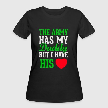 Army has my daddy i have his heart military family - Women's 50/50 T-Shirt
