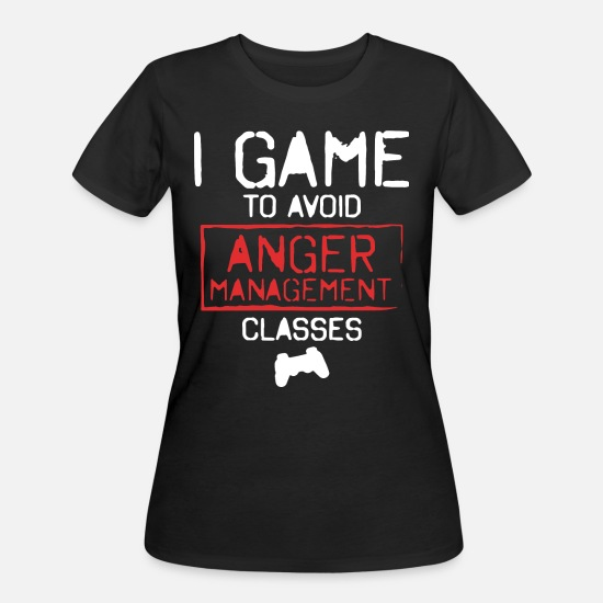 Married Game Over T-shirts T-Shirts - i game to avoid anger management classes t-shirts - Women's 50/50 T-Shirt black