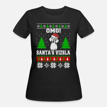 Vizsla Puppies OMG! Santa's Vizsla, Best Shirt For Vizsla Lover - Women's 50/50 T-Shirt
