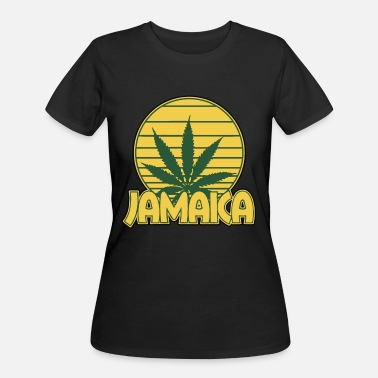 Jamaican Weed Jamaica Jamaican Weed Leaf Logo Nationality - Women's 50/50 T-Shirt