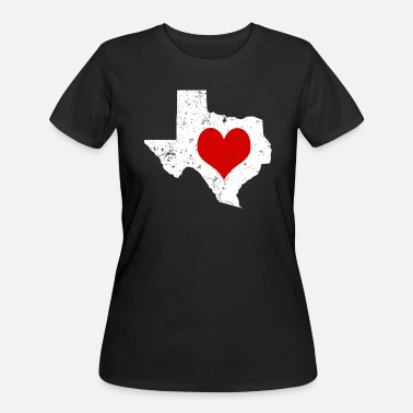 Texas Valentines Day Texas Cute Valentines Day Gift Hearts Shirt - Women's 50/50 T-Shirt