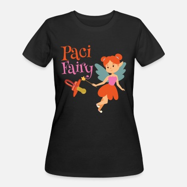Binky Fairy Paci Fairy: Cute Pacifier Fairy Shirt for Girls - Women's 50/50 T-Shirt