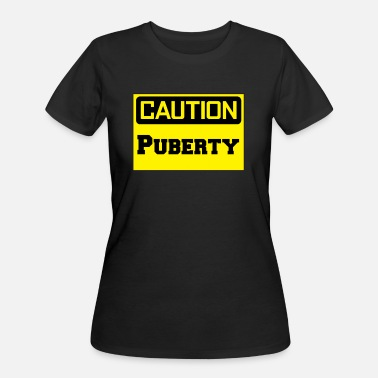 Puberty CAUTION: Puberty Design - Women's 50/50 T-Shirt