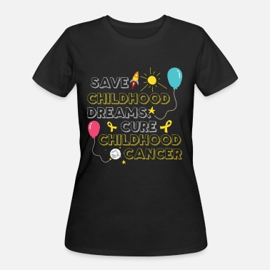 Chemo Childhood Cancer Warrior Gold Ribbon - Women's 50/50 T-Shirt