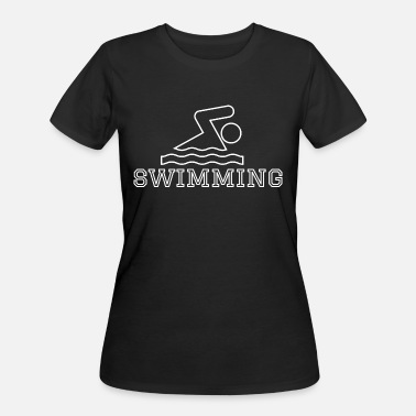 Outline Graphics Swimming Hobby Outline Graphic - Women's 50/50 T-Shirt