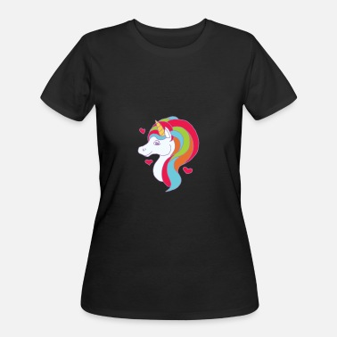 Underwater Unicorn Unicorn - Women's 50/50 T-Shirt