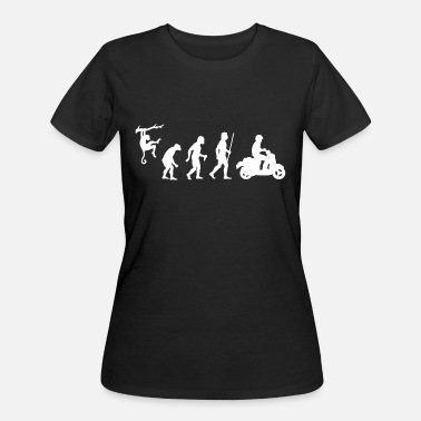 Evolution Scooter Scooter - Evolution of Man and Scooter - Women's 50/50 T-Shirt