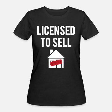 Real Real Estate Agent Shirt - Women's 50/50 T-Shirt