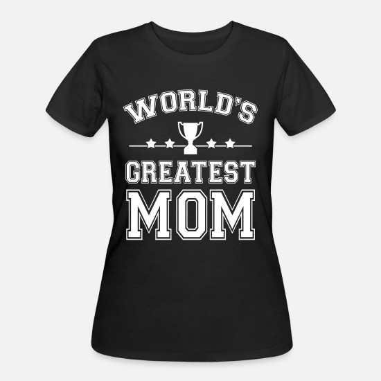 Mother's Day T-Shirts - Mother's Day T-shirt - World's Greatest Mom - Women's 50/50 T-Shirt black
