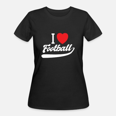 I Heart Football I love football i heart - Women's 50/50 T-Shirt