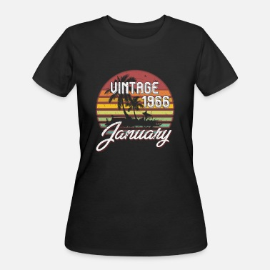 53th Birthday Gift 53th Birthday Gifts Retro Vintage January 1966 - Women's 50/50 T-Shirt