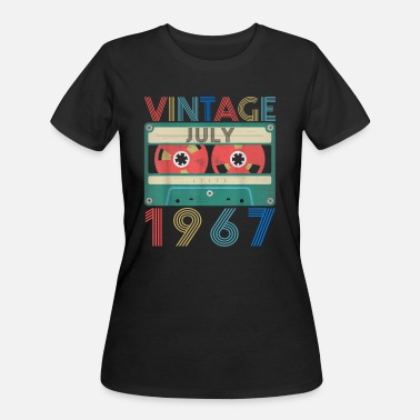 Vintage 1967 Retro Vintage July 1967 birthday - Women's 50/50 T-Shirt