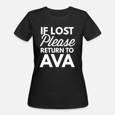 Ava If lost please return to Ava - Women's 50/50 T-Shirt