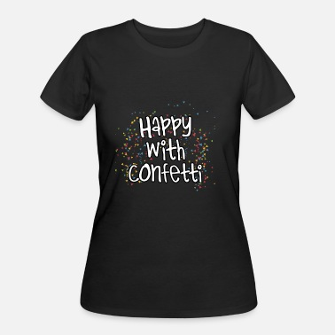 Costume Carneval Happy With Confetti Carneval Costume Gift Idea - Women's 50/50 T-Shirt