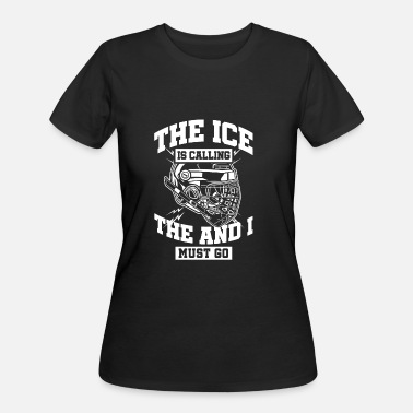 No Money Hockey Ice Hockey - The Ice Is Calling And I Must Go - Women's 50/50 T-Shirt